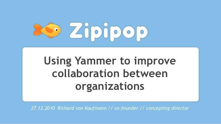 Using Yammer24.11.2010 Richard von Kaufmann // co-founder // Concepting Director