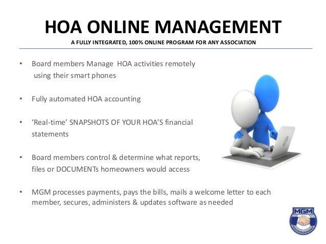 Managing Your HOA Online