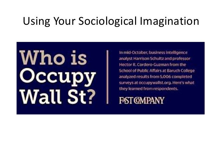 Using Your Sociological Imagination