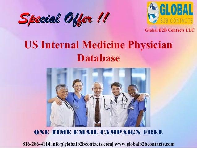 Us internal medicine physician database