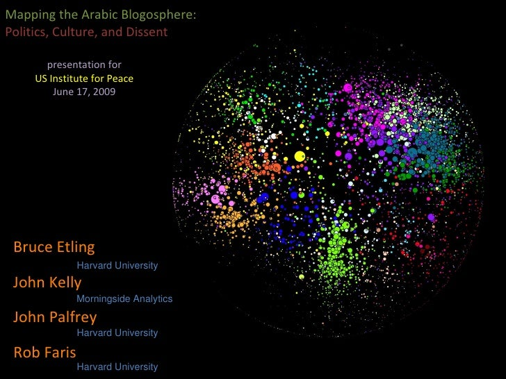 Mapping the Arabic Blogosphere:  Politics, Culture, and Dissent  presentation for US Institute for Peace June 17, 2009 Joh...