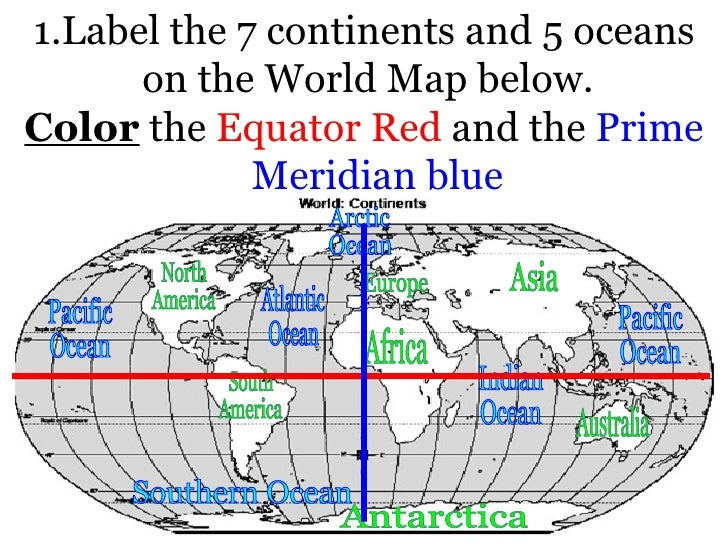 Usi semester exam study guide answer key ullilabel the 7 continents and 5 oceans on the world 2 use the map below gumiabroncs Images