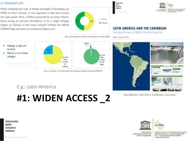 #1: WIDEN ACCESS _2 E.g.: Latin America
