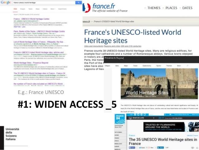 #1: WIDEN ACCESS _5 E.g.: France UNESCO