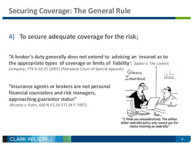 Insurance Broker'S Duty Of Care