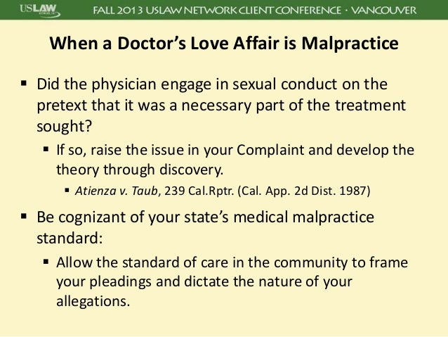 Medical sexual misconduct