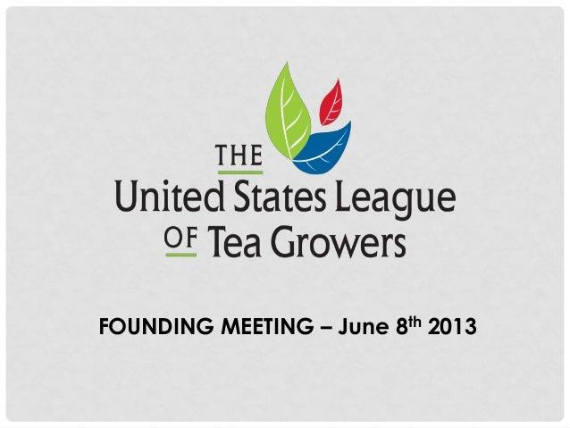 FOUNDING MEETING – June 8th 2013