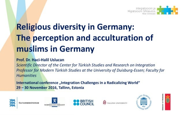 Seite 1 Understanding and measuring Integration of migrants 1 Religious diversity in Germany: The perception and accultura...