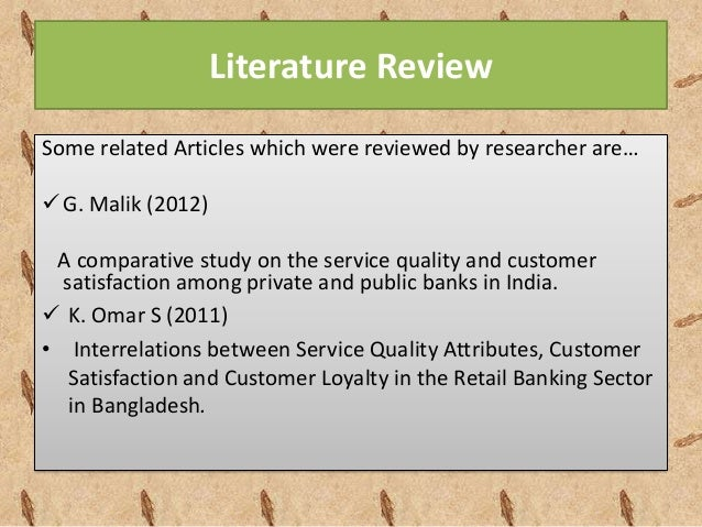 literature review crm banking sector