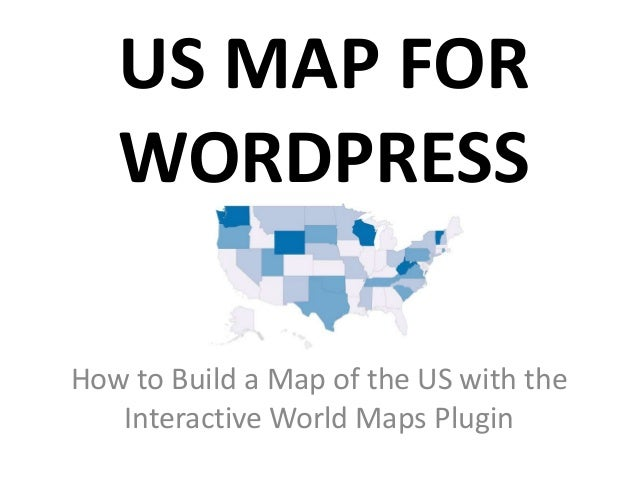 Us map for wordpress