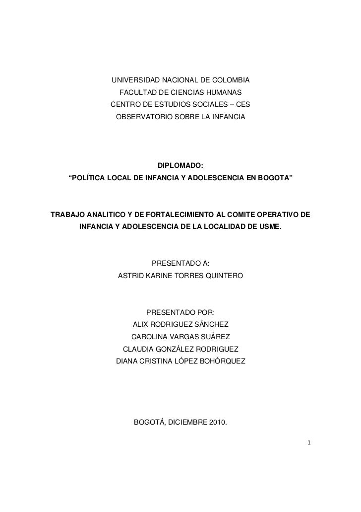 UNIVERSIDAD NACIONAL DE COLOMBIA                FACULTAD DE CIENCIAS HUMANAS              CENTRO DE ESTUDIOS SOCIALES – CE...