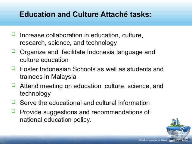 Education and Culture Collaboration with the Universities in Indonesia