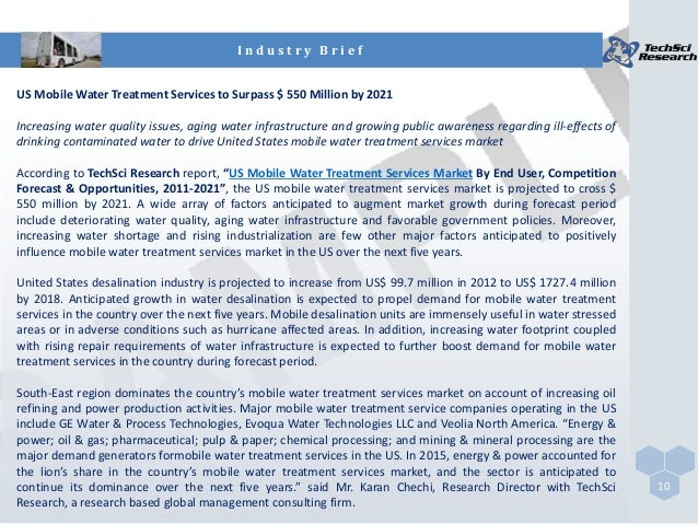 Water Treatment Services : Us mobile water treatment services market brochure
