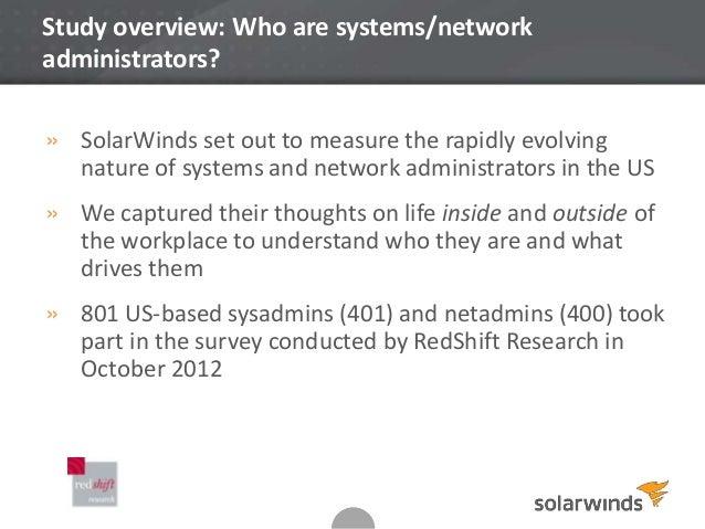 Netadmin and Sysadmin Survey Results - US Slide 2