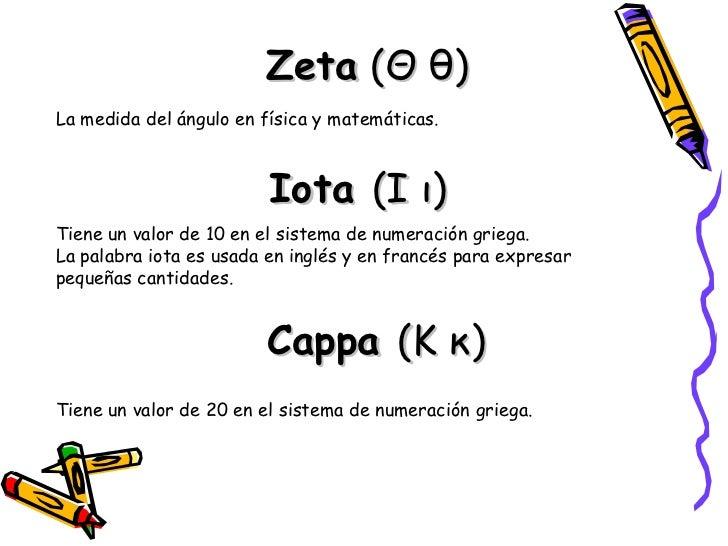 Uso científico del alfabeto griego