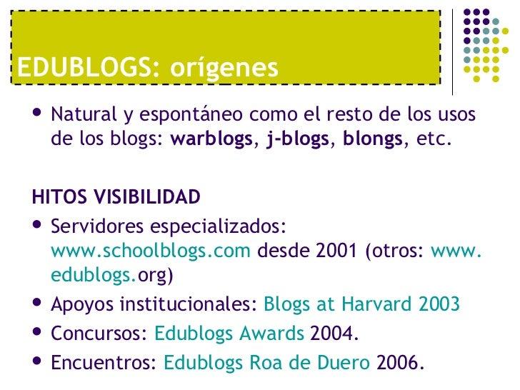 Uso educativo de los blogs Slide 3