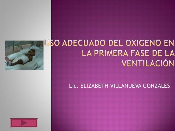Lic. ELIZABETH VILLANUEVA GONZALES