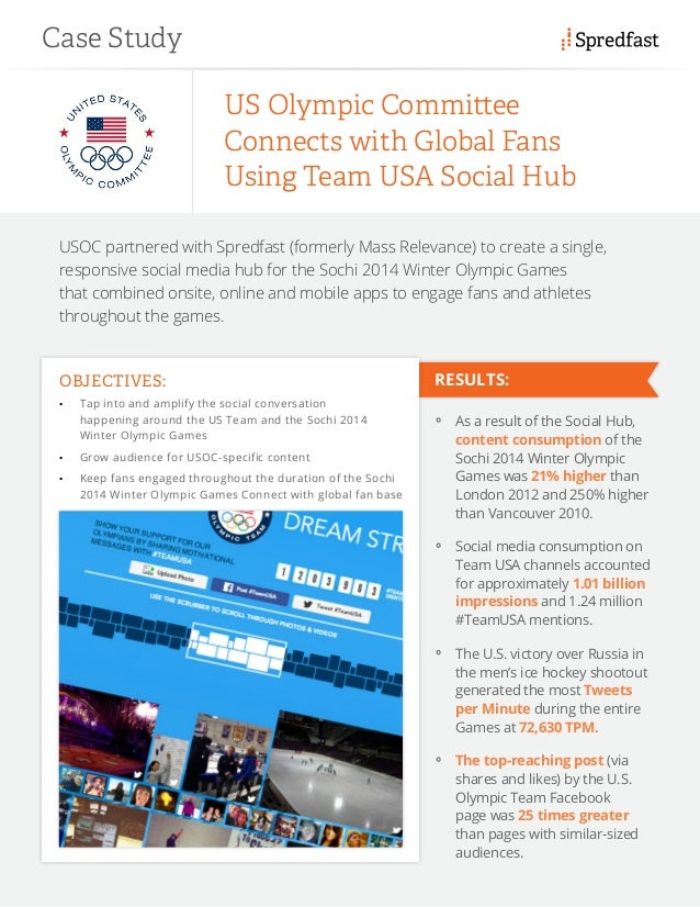USOC partnered with Spredfast (formerly Mass Relevance) to create a single, responsive social media hub for the Sochi 2014...
