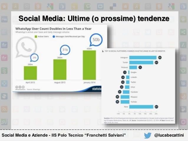 "Social Media: Ultime (o prossime) tendenze Social Media e Aziende - IIS Polo Tecnico ""Franchetti Salviani"" @lucabecattini"