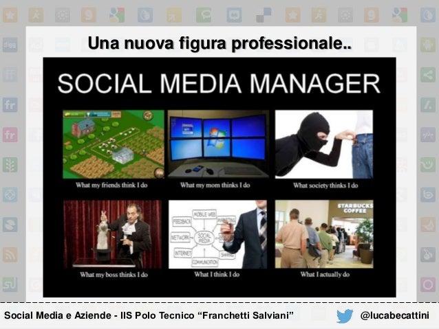 """Social Media e Aziende - IIS Polo Tecnico """"Franchetti Salviani"""" Una nuova figura professionale.. @lucabecattini"""
