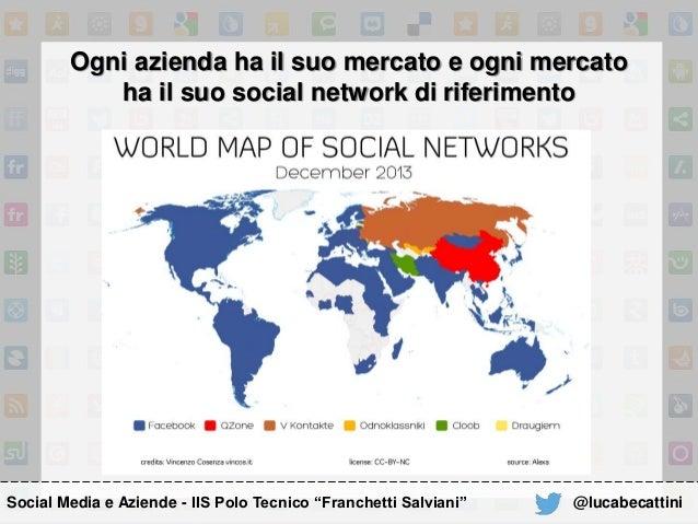 Ogni azienda ha il suo mercato e ogni mercato ha il suo social network di riferimento Social Media e Aziende - IIS Polo Te...