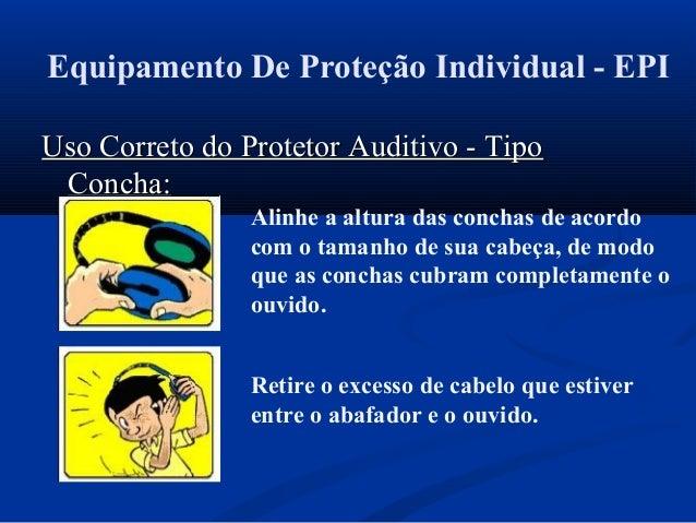 d96a0490b118b ... Tipo Concha (Abafador)  23. Equipamento De Proteção Individual - EPI  Uso Correto do Protetor Auditivo ...