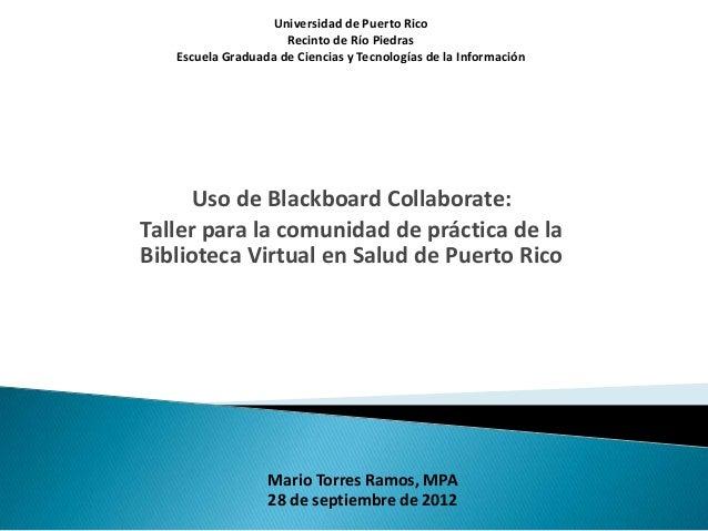 Universidad de Puerto Rico                     Recinto de Río Piedras   Escuela Graduada de Ciencias y Tecnologías de la I...