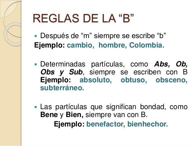 Uso de b y v clase 17 for La b b