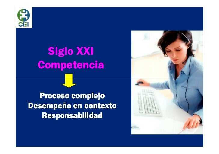 Siglo XXI  Competencia  Proceso complejoDesempeño en contexto   Responsabilidad