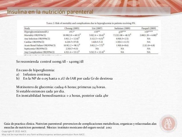 Uso de insulina hospitalizado