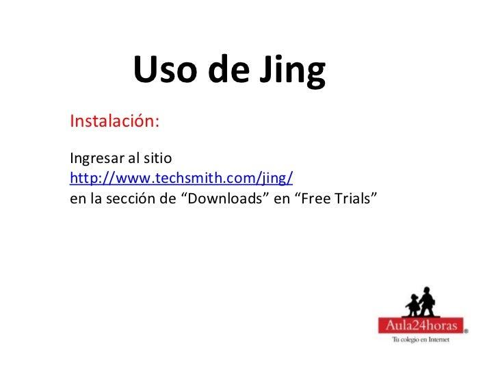 Uso de Jing Slide 3