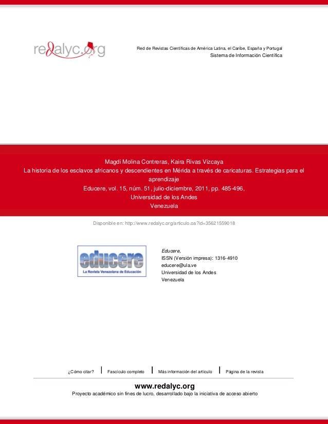 Disponible en: http://www.redalyc.org/articulo.oa?id=35621559018 Red de Revistas Científicas de América Latina, el Caribe,...