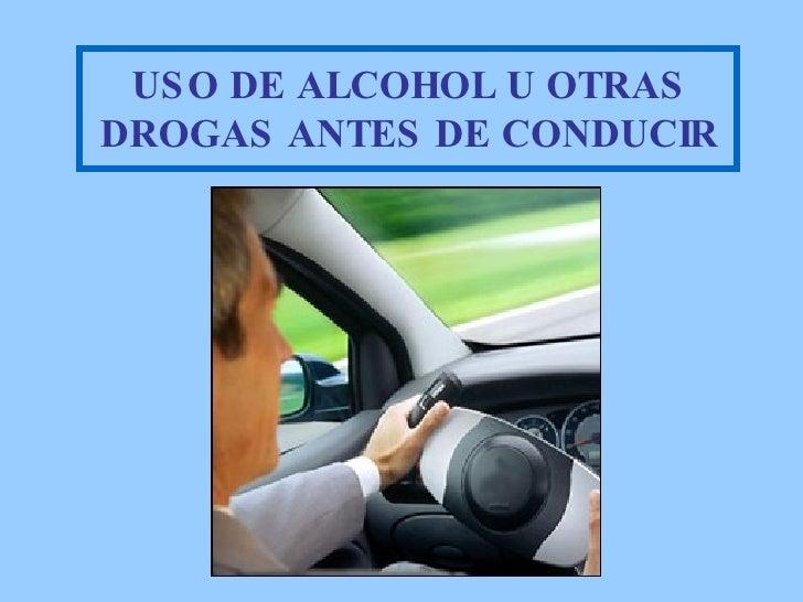 Uso del alcohol antes de manejar - Usos del alcohol ...