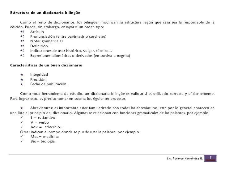 Uso Del Diccionario Cognados Y Afijos