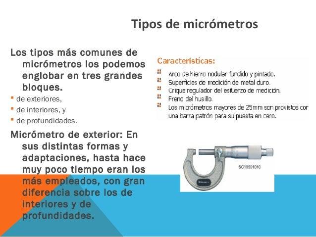Uso del micrometro - Micrometro de interiores ...