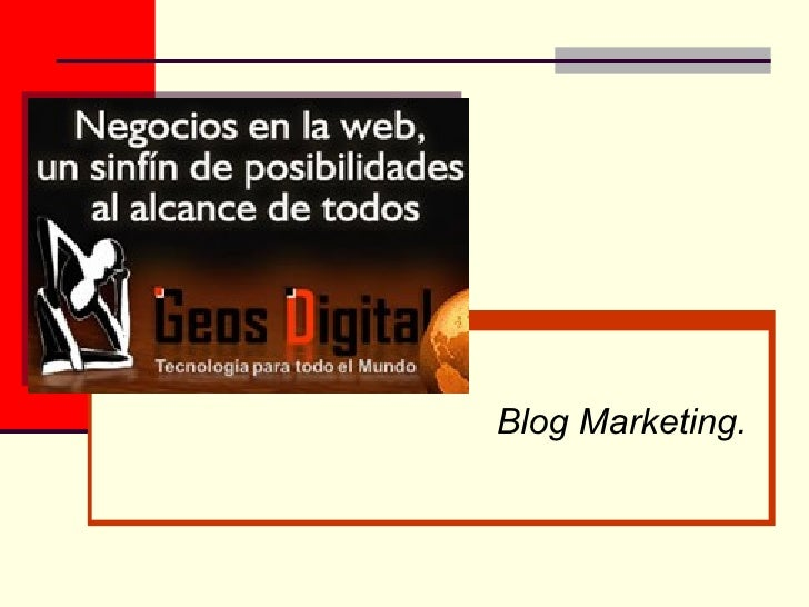 Blog Marketing.