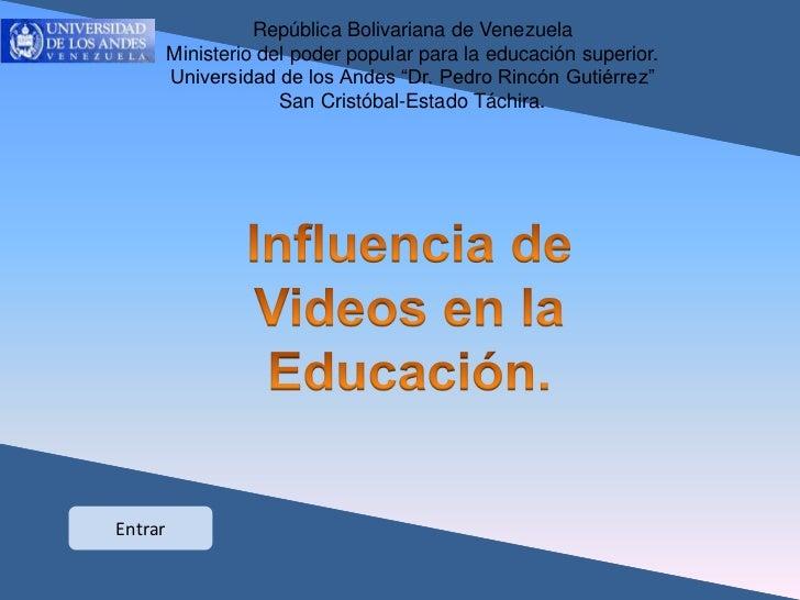República Bolivariana de Venezuela                Ministerio del poder popular para la educación superior.                ...