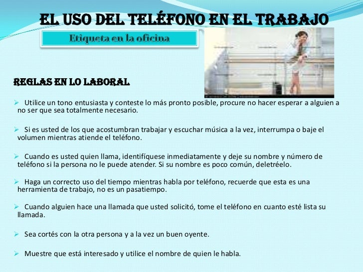Uso del telefono final for Telefono oficina de empleo madrid