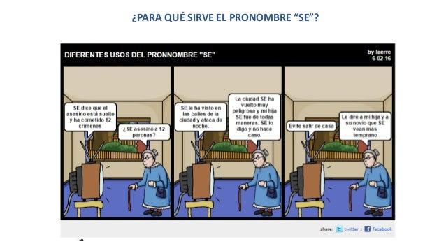 """¿PARA QUÉ SIRVE EL PRONOMBRE """"SE""""?"""