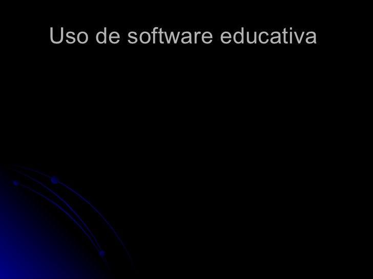 Uso de software educativa
