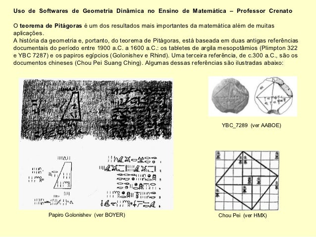 Uso de Softwares de Geometria Dinâmica no Ensino de Matemática – Professor CrenatoO teorema de Pitágoras é um dos resultad...