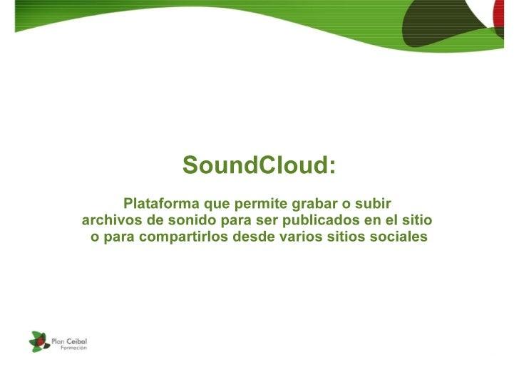 Uso de SoundCloud