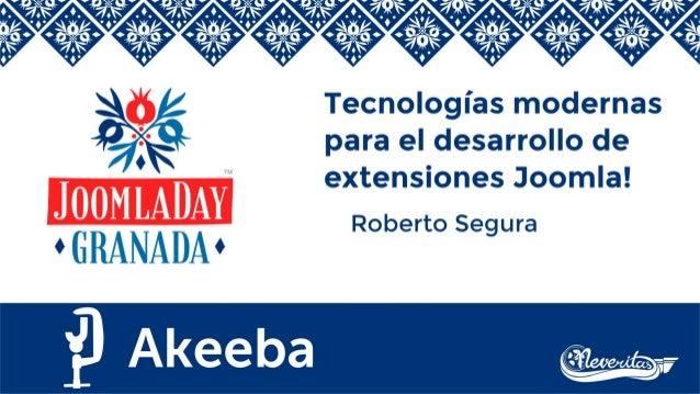 Uso de tecnologías modernas en Joomla!