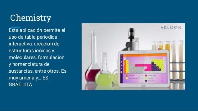 Uso de ti cs para enseanza de la quimica 3 chemistry esta aplicacin permite el uso de tabla periodica interactiva urtaz Image collections