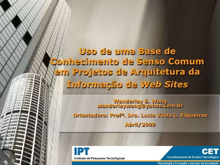 Uso de uma Base de Conhecimento de Senso Comum em Projetos de Arquitetura da Informação de Web Sites