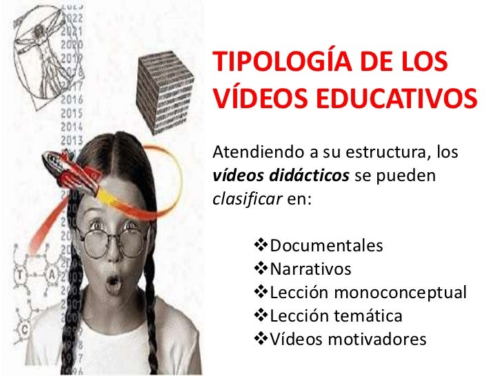 TIPOLOGÍA DE LOS VÍDEOS EDUCATIVOS<br />Atendiendo a su estructura, los vídeos didácticos se pueden clasificar en:<br /><u...