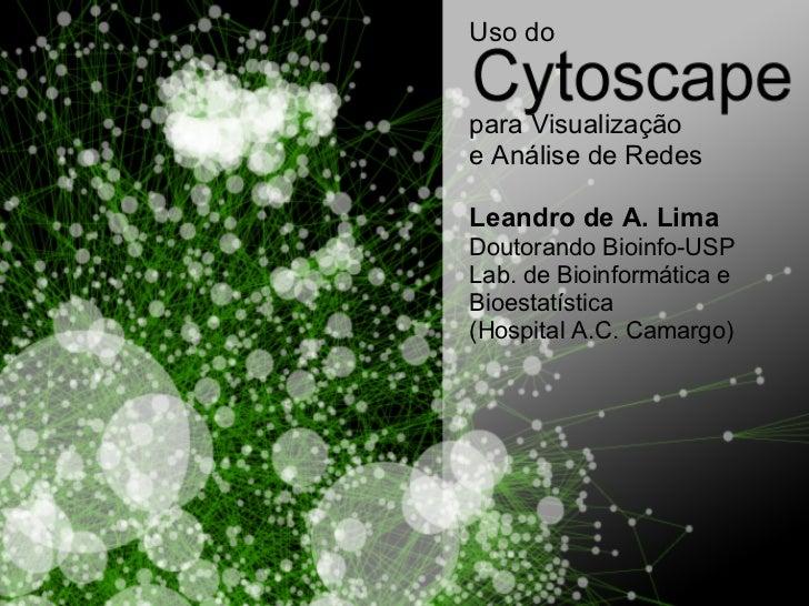 Uso dopara Visualizaçãoe Análise de RedesLeandro de A. LimaDoutorando Bioinfo-USPLab. de Bioinformática eBioestatística(Ho...