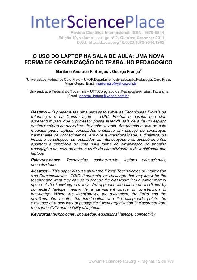 Edição 19, volume 1, artigo nº 2, Outubro/Dezembro 2011                                 D.O.I: http://dx.doi.org/10.6020/1...