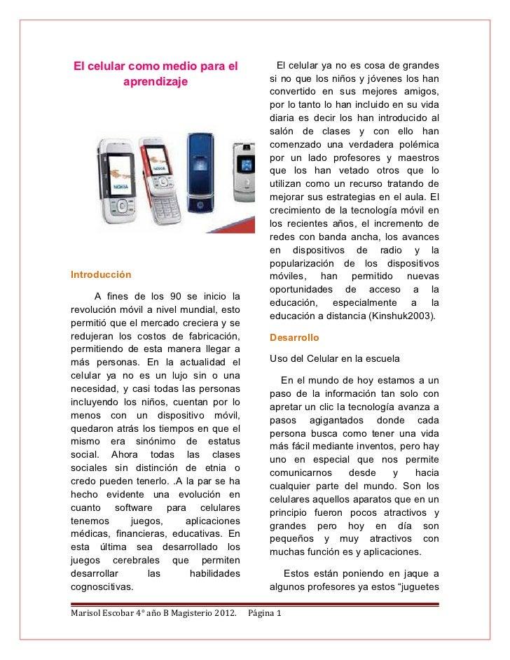 Uso educativo del celular for Primicias ya para movil