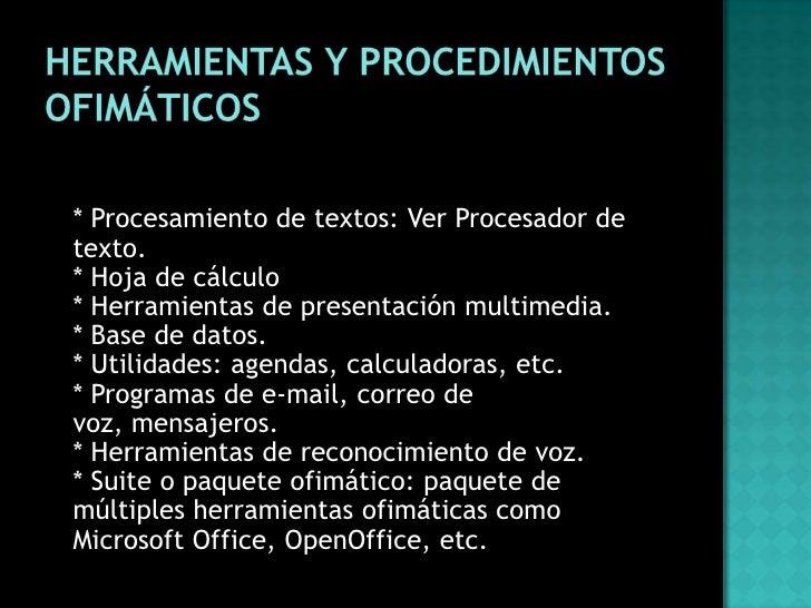 Uso e importancia de las herramientas ofim ticas for Cuales son las caracteristicas de una oficina